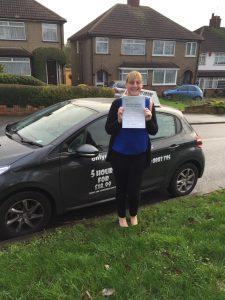Susan was a very nervous driver but passed with us at Only Essex Driving School
