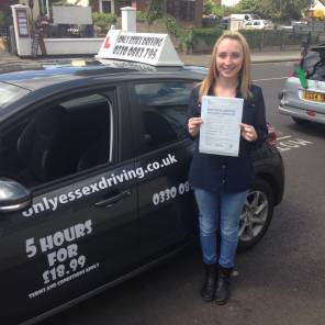 Amy passed first time with Only Essex Driving School.