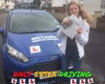 Chloe Greaves passed her driving test at Hornchurch test centre