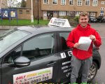 Ronnie for passing his driving test at Hornchurch test centre