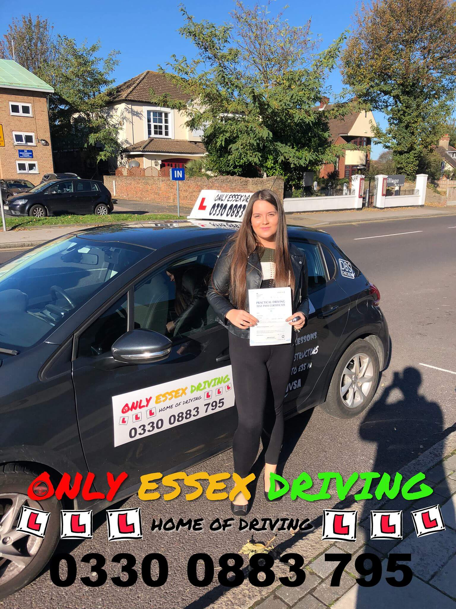 Well done to Megan for passing her driving test at Hornchurch test centre