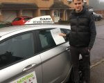 Levi who passed his driving test at Tilbury test centre