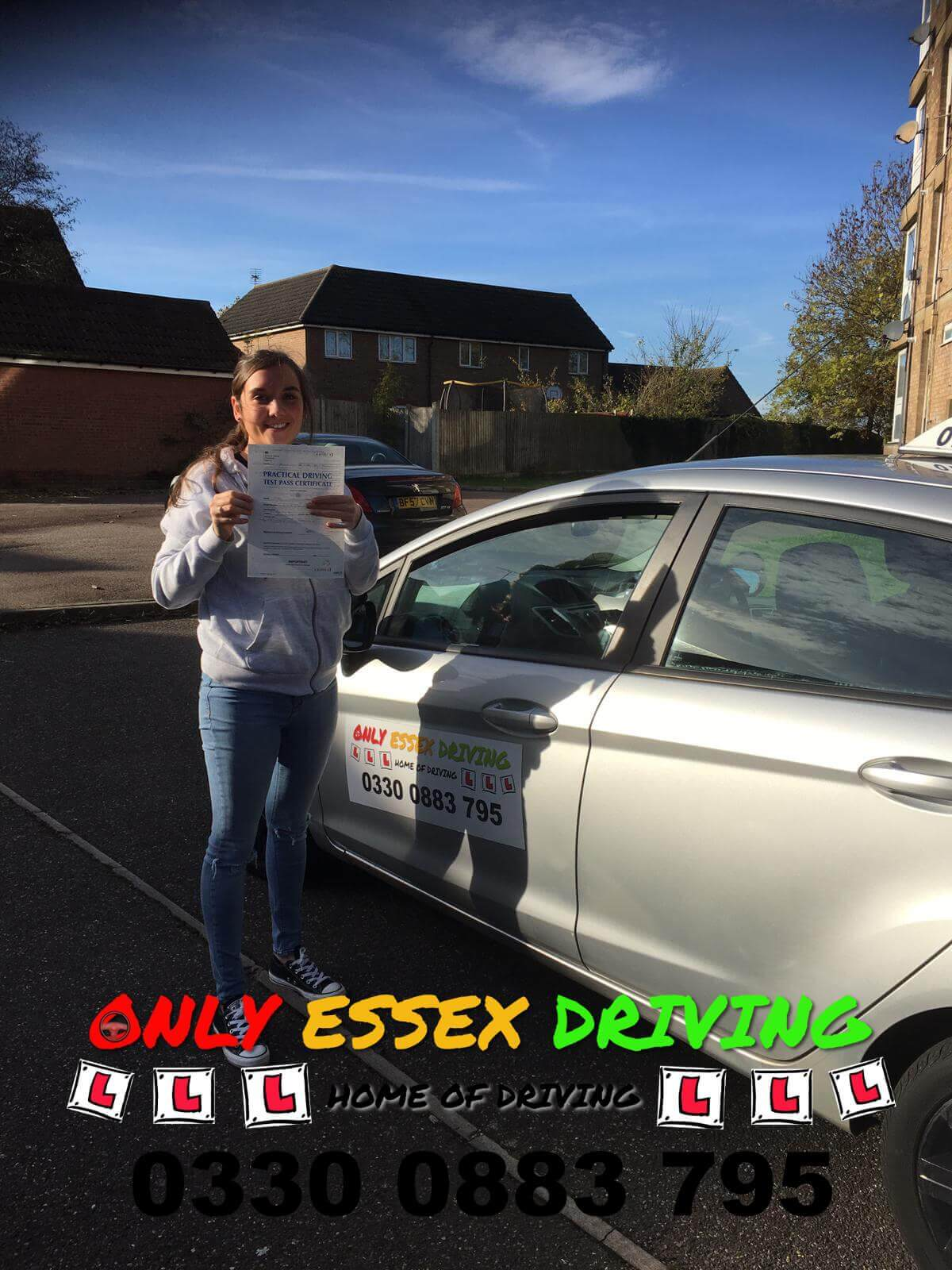 Well done to Jade who passed her driving test today at Basildon test centre