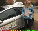 Well done to Charlotte who passed her driving test at Southend test centre