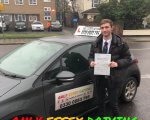 Well done to Sam Smith who passed his driving test at Hornchurch test centre