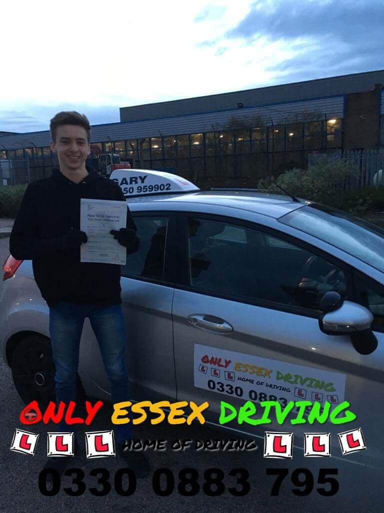 Well done to Craig who passed his driving test at Basildon test centre
