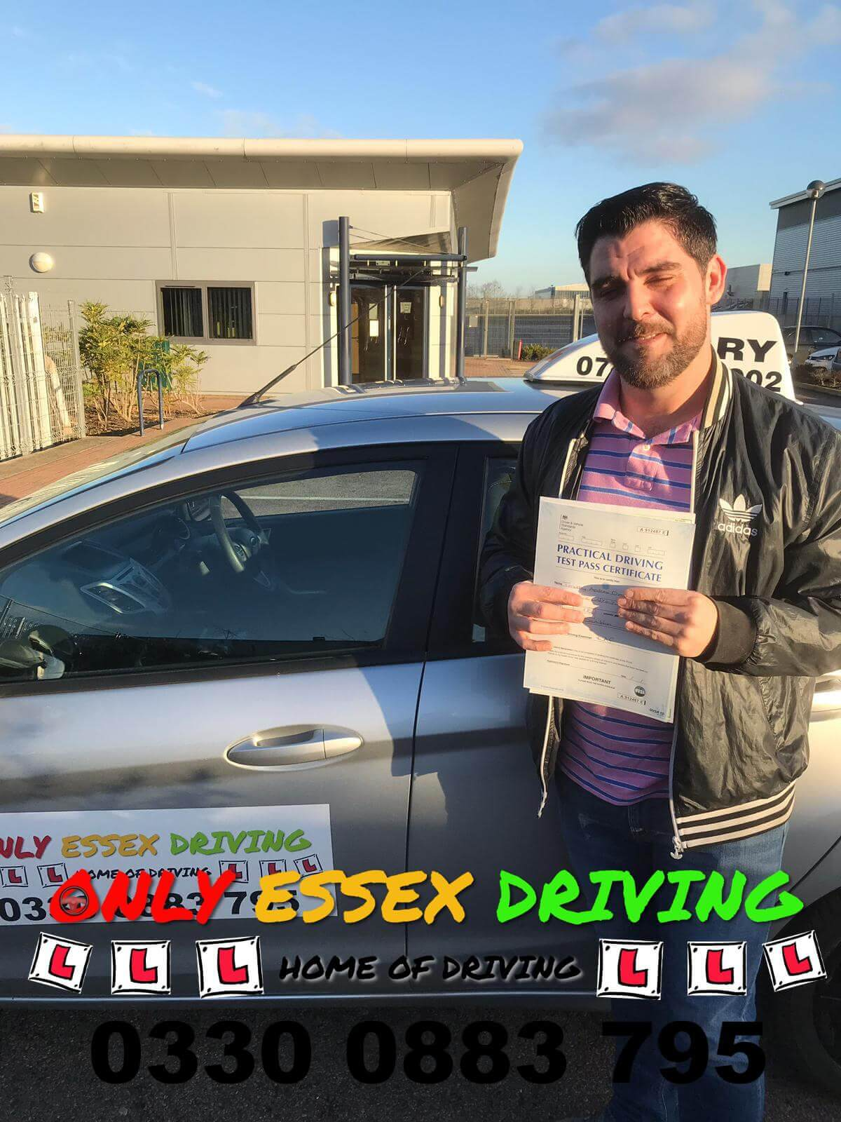 Well done to Tim for passing his driving test at Basildon test centre