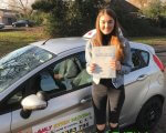 Well done to Paige who passed her driving test first time with only 5 minors at Basildon test centre