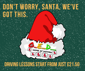 Santa Hat. Driving lessons for £21.50.